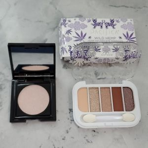 Eyeshadow and highlighter